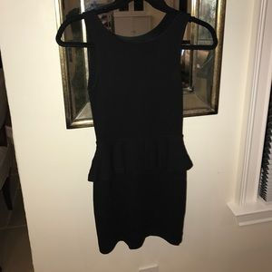 Zara black peplum dress