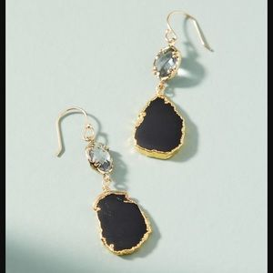 Anthropologie silver and black earrings