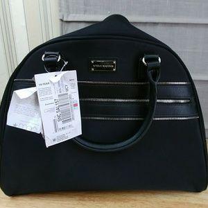 Steve Madden Luggage Patchwork Suitcase Satchel 🎒