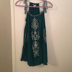 Forever 21 Blue/Green Boho Sundress