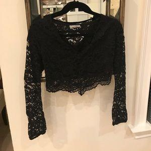 Zara lace long sleeves crop top