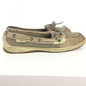 Sperrys top siders Women's 9 Tan khaki boat shoes