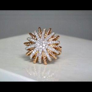 DAVID YURMAN STARBURST 0.45 CTW 22MM 18K ROSE RING