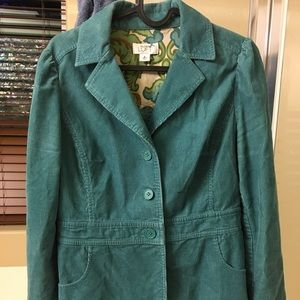 Teal Cordoroy jacket