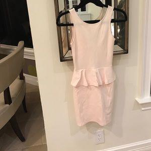 Zara pink peplum dress