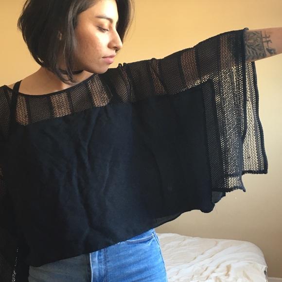 Zara Tops - Zara net black crop top