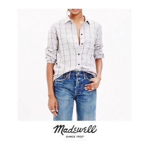 Madewell Windowpane Flannel Button Down