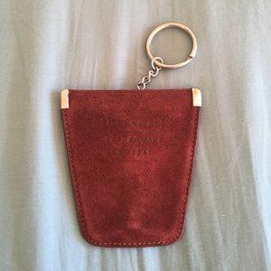 Coach burgundy coin pouch key chain