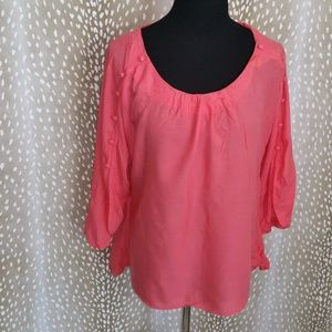 Anthropologie Maeve Shirt High Low Top Size M