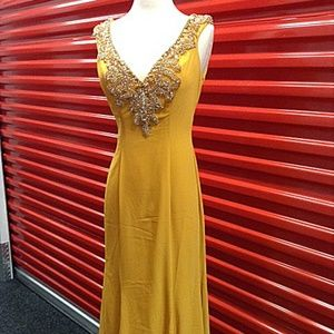 1ed6548680e Dresses - NEW Gown Party Prom Long Evening Dress Mustard