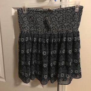 Blue Flounce Skirt by Loft