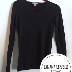 BANANA REPUBLIC Black Cotton Wool Sweater Top - M
