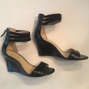 Nine West Leather Wedges with Ankle Straps sz 6