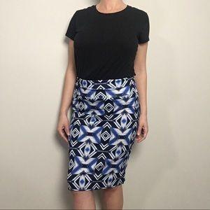LuLaRoe M Cassie Skirt Blue, White, Black NWT