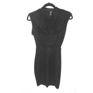 Windsor Black Glitter/Sparkly Mini Dress