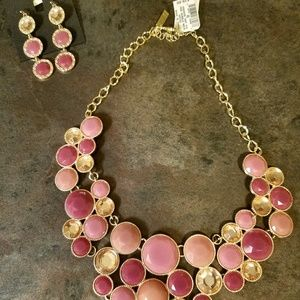 Beautiful charming statement necklace and earrings