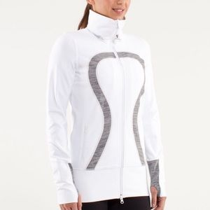 Lululemon In stride zip up white 4