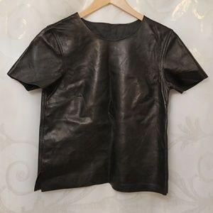Rare American Apparel leather tee shirt