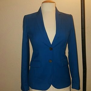 J.Crew 1035 Super 120's 2 Button Wool Blue Blazer
