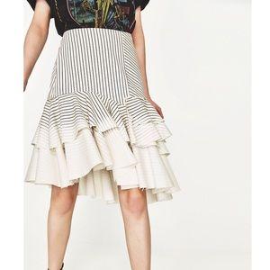 Zara ruffle skirt