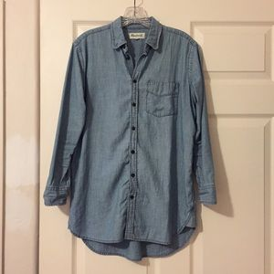 Madewell Chambray Button Up Shirt