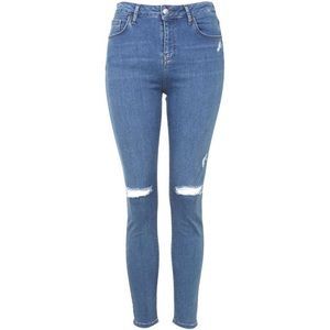 TOPSHOP Jamie Moto Ripped Jeans