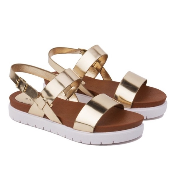 3a672efb8e4 BAMBOO Shoes - New ✨ Gold Double Band Flatform Sandal