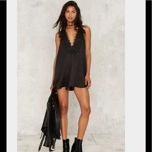 Nasty Gal Gina Satin Mini Dress