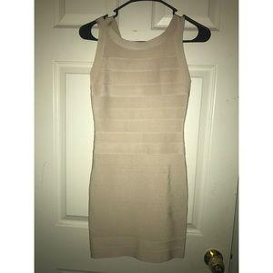 Bebe Nude Bandage Dress