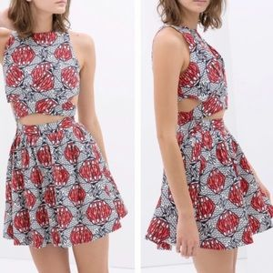 ZARA TRAFALUC Front Cut-out Dress