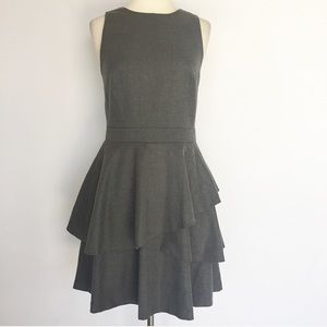 Banana Republic gray ruffled casual dress