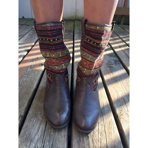 Steve Madden Leather Woven Ankle Boots (7)