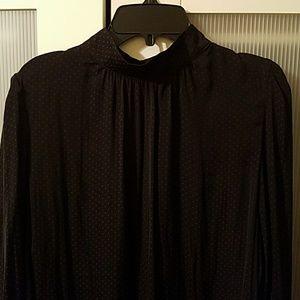 Black blouse  with grey polka dots