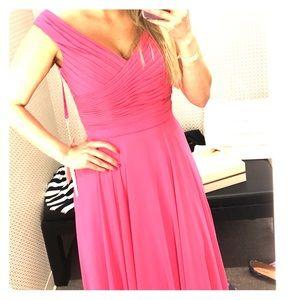 Pink floor length gown