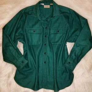 Women's LL Bean Flannel Button Down Shirt