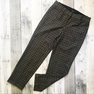 J Crew Cafe Capri Wool Blend Plaid Pants