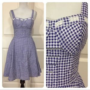 Jessica Simpson gingham dress
