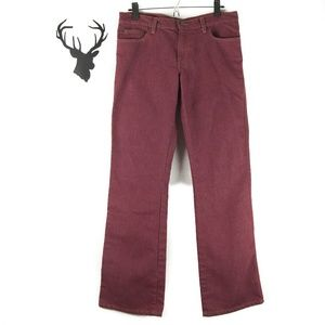 Abercrombie & Fitch Burgundy Boot Cut Jeans