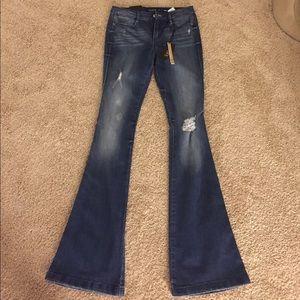 Suede Farrah high rise Flare jeans