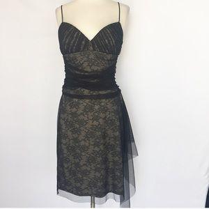 BCBG MaxAzria black lace mesh dress