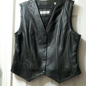 Evan Davies 100% Leather Vest