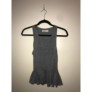 Hollister Gray Peplum Top