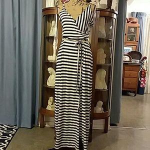 Striped Maxi Dress 1X