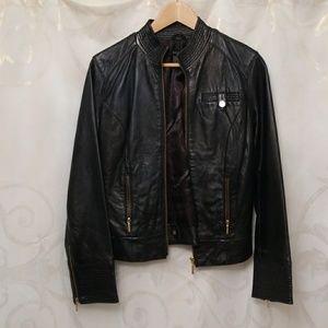 Lamb leather jacket with pockets classy