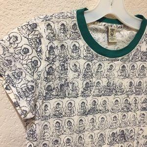 Lucky brand Buddha ringer tee shirt