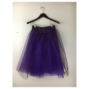 Purple Snap On Overlay Skirt Tutu Dance Halloween