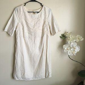 Beautiful Ivory Lace-Linen Dress/Tunic