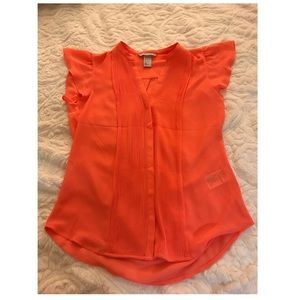 Women's H&M Orange Blouse