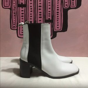 ZARA Black and White Ankle Boots