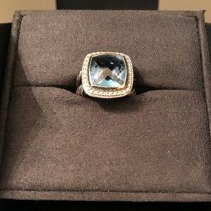 David Yurman Albion 11mm Blue Topaz Ring